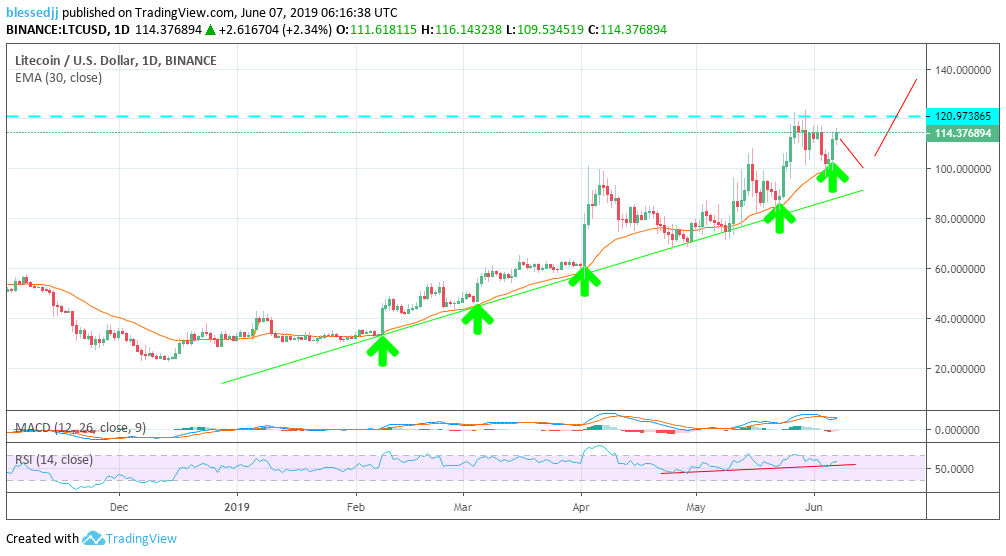 Litecoin [LTC] Price Prediction for 2019/2020/2025: $500 is